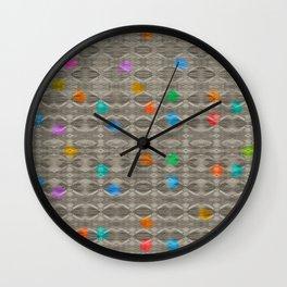 Gemstone Glitch Contrast Pattern Wall Clock