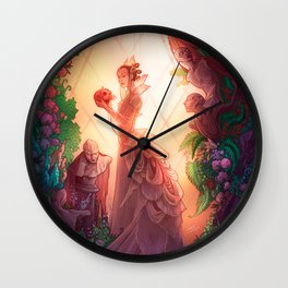 Whispers in the Greenhouse Wall Clock