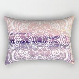 Water Mandala Amethyst & Mauve Rectangular Pillow