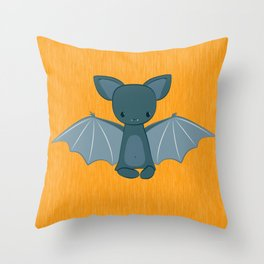 A happy bat Throw Pillow