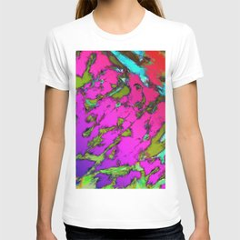 Shattering pink tigers T-shirt