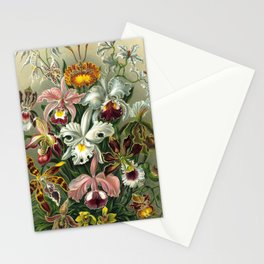Vintage Orchid Floral Stationery Cards