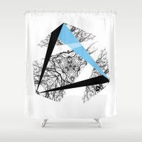 hexagon Shower Curtains featuring Hexagon by ADGPC