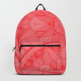 Tomato Red Mandala 4 Backpack