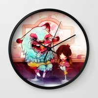 tooth Wall Clocks featuring Sweet Tooth by FlyOkay