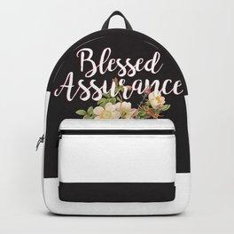 Blessed Assurance - Black Backpack