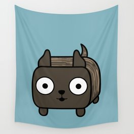 Pitbull Loaf- Brindle Pit Bull with Cropped Ears Wall Tapestry