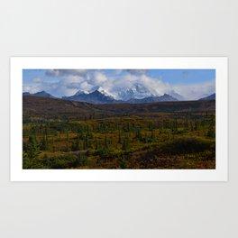 Autumn in the Chugach Mountains Art Print