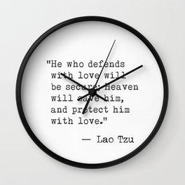 Lao Tzu classic style Wall Clock