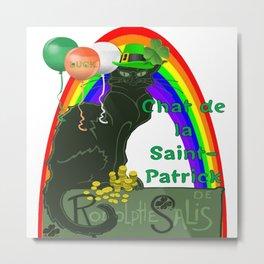 Chat De La St Patrick De Rodolphe Salis Metal Print