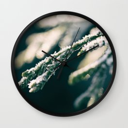 Ice Crystals And Sunshine Wall Clock