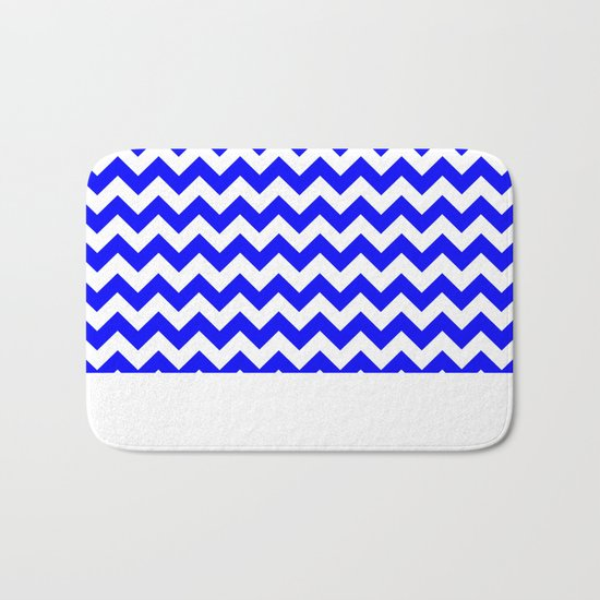 Chevron (Blue/White) Bath Mat
