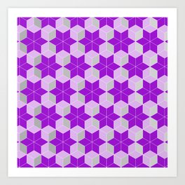 Purple Snowflakes Art Print