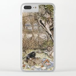 Arthur Rackham - The Wind in the Willows (1940) - Ratty and Mole at a picnic Clear iPhone Case