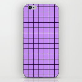 Lilac with Black Grid iPhone Skin
