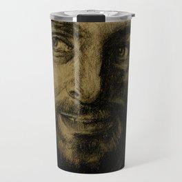 Underworld film. Coal portrait of lycan Lucian. actor Michael Sheen. Портрет углем ликана Люциана Travel Mug