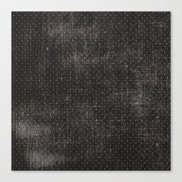 Vintage geometrical black brown polka dots pattern Canvas Print