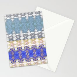 Sweet Lovely Intricate Boho Blues Lace Detail Stationery Cards