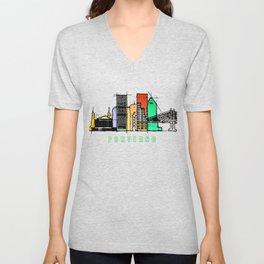 Portland city, Oregon Unisex V-Neck
