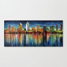 San Diego Panorama Canvas Print