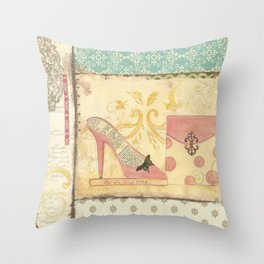 Paris Haute Coutoure Collection - She's Got Style Throw Pillow