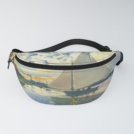 Sailboat Le-Petit-Gennevilliers Claude Monet Fine Art Fanny Pack