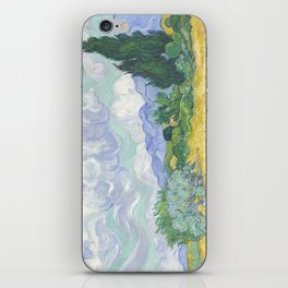 Vincent van Gogh - Wheat Field With Cypresses iPhone Skin