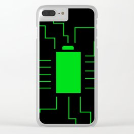 Fully Charged Clear iPhone Case