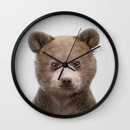 Baby Bear - Colorful Wall Clock