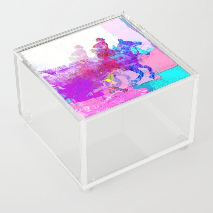 poloplayer abstract redblue Acrylic Box