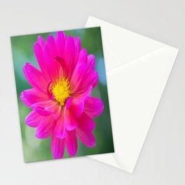 Pink Dahlia Shining Stationery Cards