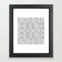 Light Gray Domio Deco Framed Art Print