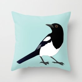 Magpie vector Throw Pillow