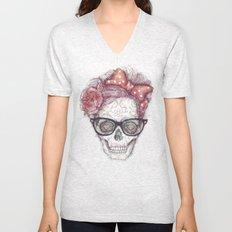 Hipster Girl is Dead Unisex V-Neck