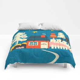 Festive Winter Hut Comforters