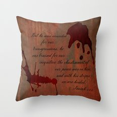 Calvary's Blood Throw Pillow