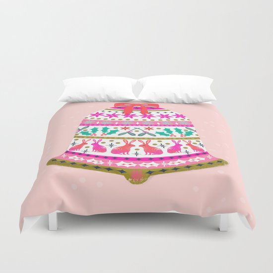 Holiday Bell by Andrea Lauren  Duvet Cover