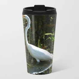 White Egret Travel Mug