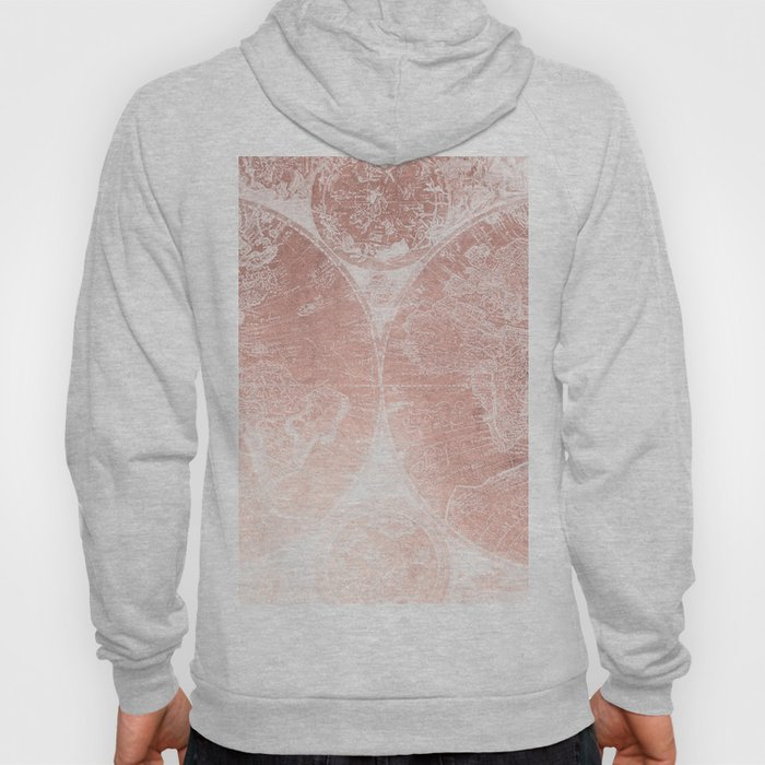 World Map Sweater.Antique World Map White Rose Gold Hoody By Naturemagick Society6