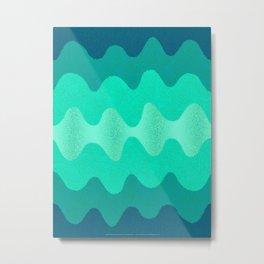 Under the Influence (Marimekko Curves) Seaside Metal Print