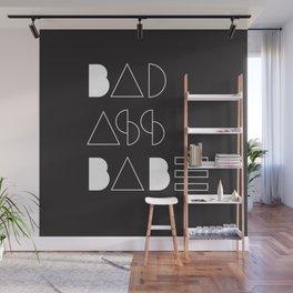 Bad Ass Babe B&W Wall Mural