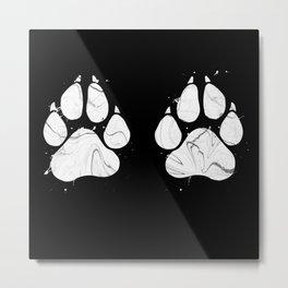 Marble Paws Metal Print