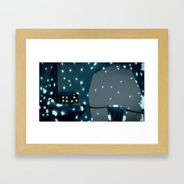 low poly - minerscabin Framed Art Print