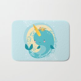 NARWHAL - BE AWESOME! Bath Mat