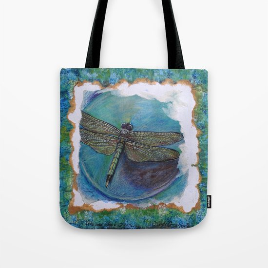 Dragon Fly Original Art By Catherine Coyle Tote Bag