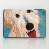 floyd iPad Cases featuring Our Dog Floyd by Barking Dog Creations Studio