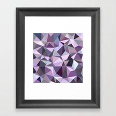 Happy purple triangles Framed Art Print