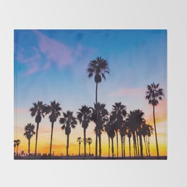 Venice Beach at Sunset Throw Blanket