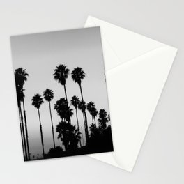 Black & White Palm Trees Stationery Cards