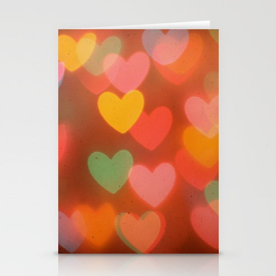 Heart Bokeh Stationery Cards